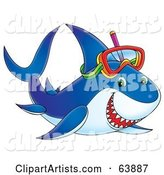 Happy Blue Snorkeling Shark