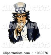 Navy War Recruiting Uncle Sam Pointing His Finger