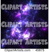 Purple Nebula Fractal Background in Space