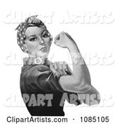 Rosie the Riveter in Black and White