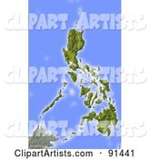 Shaded Relief Map of Philippines