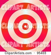 Shiny Red Bullseye Background