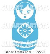 White and Blue Nesting Doll