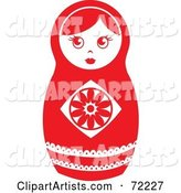 White and Red Nesting Doll