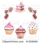 Cupcakes Clipart by Gina Jane
