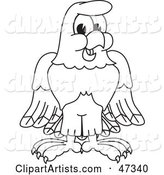 Eagle Mascot Clipart by Toons4Biz