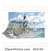 Lighthouse Clipart by Gina Jane