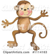 Monkey Clipart by Gina Jane