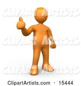 Orange People Clipart by 3poD