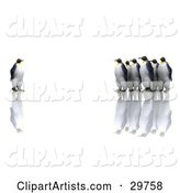 Penguin Clipart by KJ Pargeter