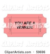 Raffle Ticket Clipart by Oboy