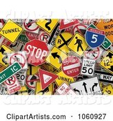 Road Sign Clipart by Stockillustrations