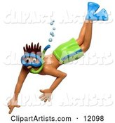 Snorkel Clipart by Amy Vangsgard