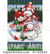 Snowman Clipart by Gina Jane