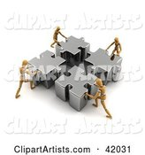 Teamwork Clipart by Stockillustrations