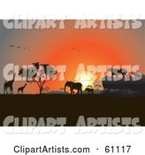 Vector African Animals Clipart by Pauloribau
