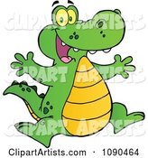 Vector Alligator Clipart by Hit Toon