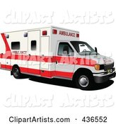 Vector Ambulance Clipart by Leonid