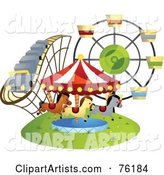 Vector Amusement Park Clipart by BNP Design Studio