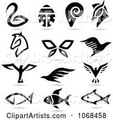 Vector Animal Logos Clipart by Cidepix