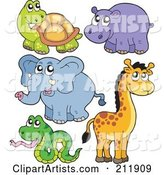 Vector Animals Clipart by Visekart
