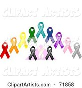 Vector Awareness Ribbons Clipart by Inkgraphics