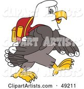 Vector Bald Eagle Character Clipart by Toons4Biz