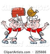 Vector Bbq Clipart by LaffToon