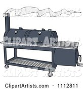 Vector Bbq Smoker Clipart by LaffToon
