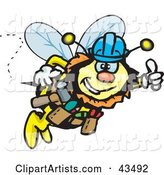 Vector Bee Clipart by Dennis Holmes Designs