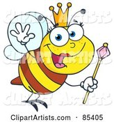 Vector Bee Clipart by Hit Toon