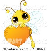 Vector Bee Clipart by Pushkin
