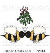 Vector Bees Clipart by Inkgraphics