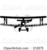 Vector Biplane Clipart by Rogue Design and Image