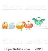 Vector Birds Clipart by Qiun