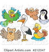 Vector Birds Clipart by Visekart