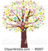 Vector Blossoms Clipart by KJ Pargeter