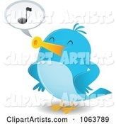 Vector Blue Bird Clipart by Qiun