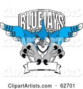 Vector Blue Jay Mascot Clipart by Toons4Biz