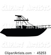 Vector Boat Silhouette Clipart by JR