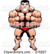 Vector Bodybuilder Clipart by Cory Thoman