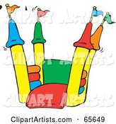 Vector Bounce House Clipart by Dennis Holmes Designs