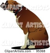 Vector Boxer Dog Clipart by Leonid