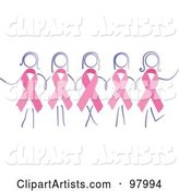 Vector Breast Cancer Clipart by Inkgraphics