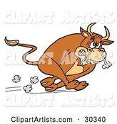 Vector Bull Clipart by LaffToon
