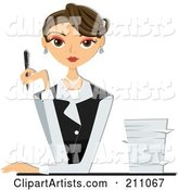 Vector Businesswoman Clipart by BNP Design Studio
