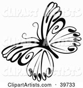 Vector Butterfly Clipart by Dero