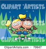 Vector Camping Clipart by Jtoons