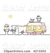 Vector Camping Clipart by NL Shop