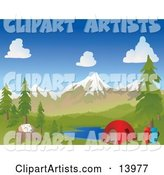 Vector Camping Clipart by Rasmussen Images